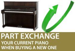 Part Exchange your piano in Wimbledon, Colliers Wood, Southfields, Merton