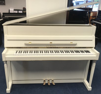 Schimmel 112 White Satin Upright