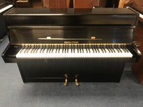 Fuchs & Mohr 108 Black Satin Upright Piano