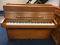 Knight York Teak Satin Upright Piano