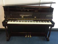 Samick SU110P Mahogany Upright Piano with matching stool