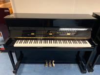 Samick JS112 Black Polyester Upright Piano