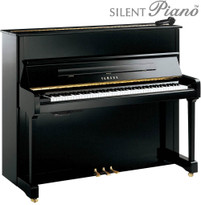 Yamaha P121SH Silent Upright Piano from www.SheargoldMusic.co.uk