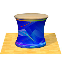 """Wave Tube Oval Display Counter 30"""" High with Dye-Sub Graphic"""