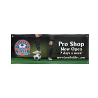 3' X 8' Dye-Sublimated Super Poly Knit Single-Sided Banner