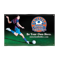 5' X 8' Dye-Sublimated Super Poly Knit Single-Sided Banner