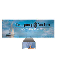 2' x 6' 9 oz. Mesh Vinyl Single-Sided Banner