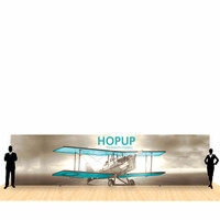 30ft x 8ft Hop Up Back Wall Straight Display (12x3)