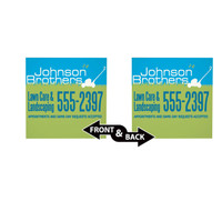 """18""""w x 18""""h Plastic Yard Sign Double Sided"""