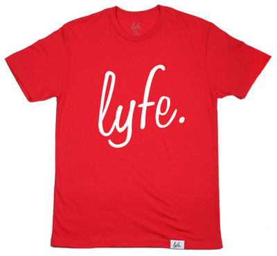 LYFE Script Red/White - Men