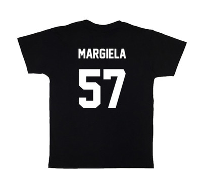 Black MARGIELA57 Football Tee