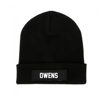 Black OWENS Beanie Patch