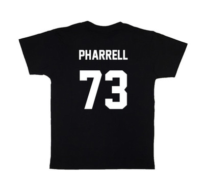 Black PHARRELL73 Football Tee