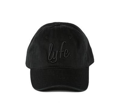 "LYFE Script Black/Black ""Dad"" Cap"