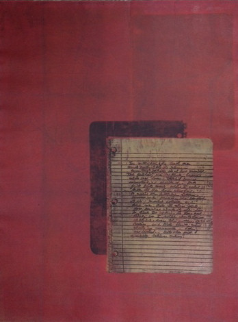 Penn, Beverly, Tautology XII, monoprint, polymer photogravure, 30 x 22 in.