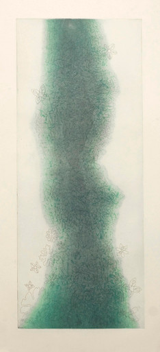 Ward, Liz, Glacial Ghost, 2012, Color aquatint and etching on Japan paper