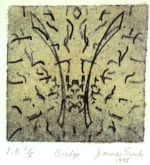 Surls, James, Bridge (small), 1998, soft-ground etching w. chine collé