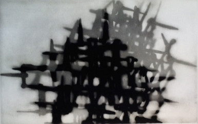 """Calaway, John, untitled, 2000, polymer gravure, 30 x 22 in. Arches Cover White, signed lower rt. margin """"Calaway"""""""