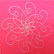 Conner, Ann, Rosewood hot pink, color woodcut,2008, ed. 15, 13 x 13 in. sheet