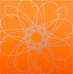 Conner, Ann, Bollywood, orange, color woodcut,2008, ed. 15, 13 x 13 in. sheet