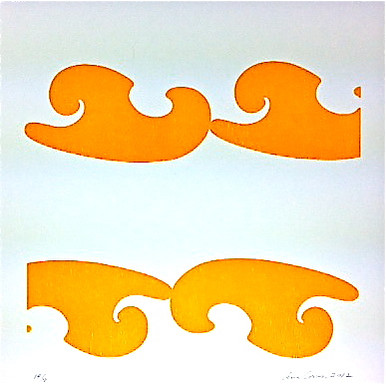 Conner, Ann, Bel Air, yellow, color woodcut,2008, ed. 15, 13 x 13 in. sheet