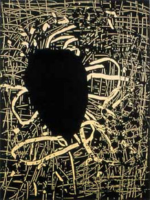 Scholder, Lawrence, Eclipse, 2009, intaglio relief chine collé, 15 x 19 in.