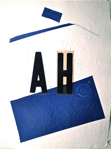 Smith, Mark L., AH, 2014, collage, 30 x 22 in., on embossed Indian paper