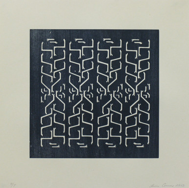 Conner, Ann, Beams 5, 2002, color woodcut, 18 x 18 in.