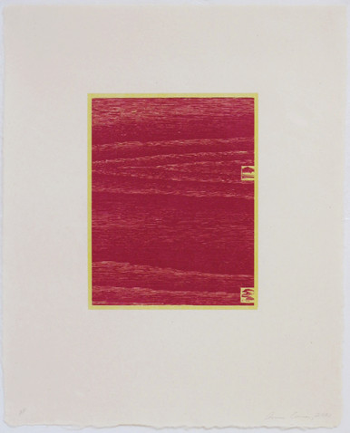 Conner, Ann, Logs 8, 2001, color woodcut, 20.5 x 16.5 in.