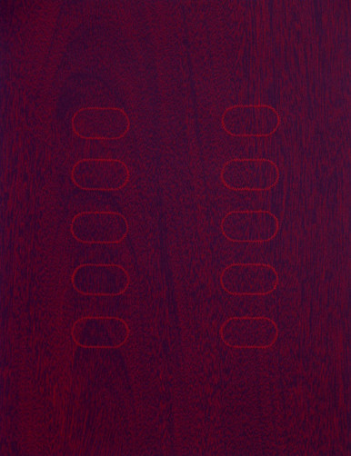 Conner, Ann, Hardwoods 2, 1997, color woodcut, 20 x 19 in.