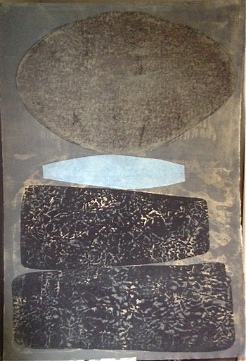 Hunt, Munson, untitled, 2000, monotype, 44 x 31 in.