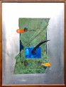 Smith, Mark L., I Took Out, 2014, collage on aluminum, 31 x 23 in., text by Jessica Greenbaum