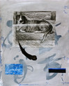 Smith, Mark L., Winston, 2014, Acrylic, sumi ink, collage, 24 x 18 in. on Acquarelle