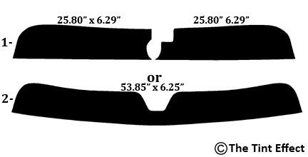 SUPERIOR QUALITY PRECUT SUN STRIP FOR DODGE CHALLENGER 08-18 99/% UV
