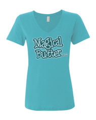 Women's Distressed MagicalButter Blue-T