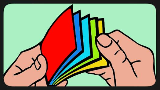 flip books arts nature greeting card movie pop culture
