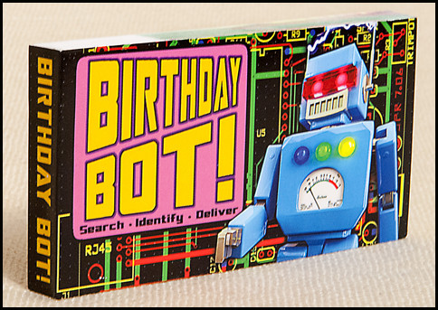 Birthday Bot flipbook has a cool robot