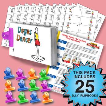 Fliptomania Dancer Flipbook Activity Pack