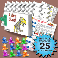 T. Rex Flipbook Activity Pack - 25 Sets