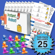 Robot Flipbook Activity Pack - 25 Sets