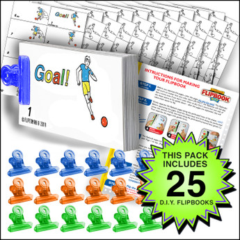 Fliptomania Soccer Flipbook Activity Pack - 25 Sets