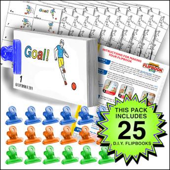 Fliptomania Soccer Flipbook Activity Pack - 25 Sets