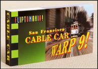Cable Car... Warp 9! Flipbook | San Francisco cable car takes off and flies over the Golden Gate Bridge.