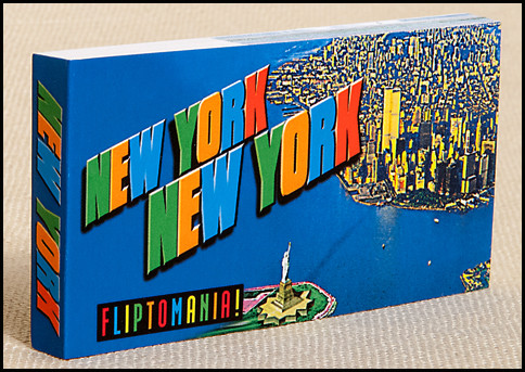 The New York, New York Flipbook zooms in on the Statue of Liberty, only to find the Empire State Building, with a resident King Kong wearing a New York Yankees cap.  A fun gift for kids.