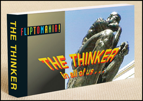 The Thinker Flipbooks show the thinker in all of us, in a familiar pose.  Great inexpensive bathroom gift.