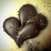 Single origin 70% cacao Hearts