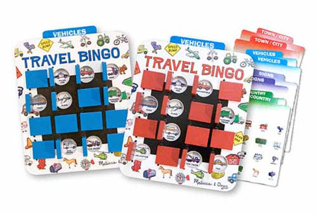 Kids Travel Flip to Win Travel Bingo Game