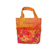 Kids Personalized Handbag in Orange Daisy