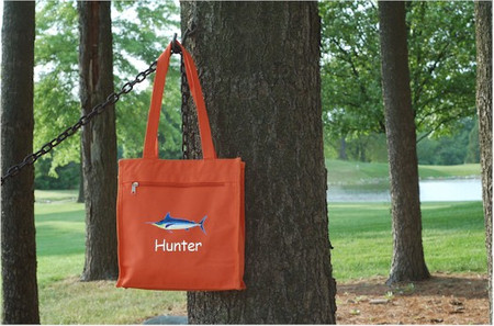 Kids Personalized Small Tote Bag in Orange