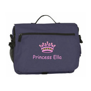 Baby personalized diaper bag in navy